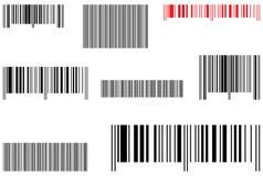 vente d'échantillons de code barres Photo stock