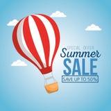 Vente d'été avec de l'air de ballon chaud illustration stock