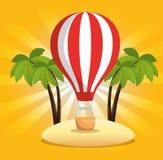 Vente d'été avec de l'air de ballon chaud illustration libre de droits