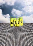 Vente d'étiquette Image stock