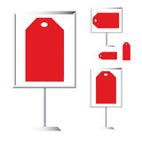 Vente d'étiquette rouge Images stock