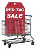 Vente d'étiquette rouge Photographie stock libre de droits