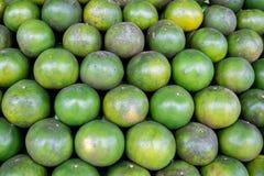 Vente d'agrumes sur le marché Photographie stock libre de droits