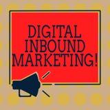 Vente d'arrivée de Digital des textes d'écriture de Word Concept d'affaires pour attirer montrer cette chute dans le mégaphone de illustration stock