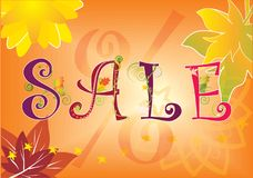 Vente d'automne Image stock
