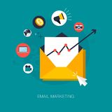 Vente d'email Photo stock