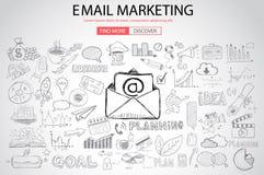 Vente d'email avec le style de conception de griffonnage illustration libre de droits