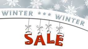 Vente d'hiver - concept de vente d'affaires illustration libre de droits