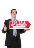 Vente d'homme d'affaires Image libre de droits