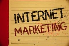 Vente d'Internet des textes d'écriture Concept signifiant la couleur en ligne de jaune d'Entrepreneurship Mellow d'entrepreneur d Photo stock