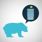 Vente d'ours de finances d'édifice bancaire Image libre de droits
