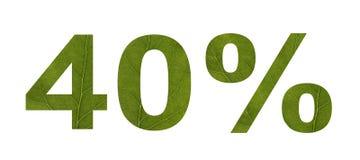 Vente d'?t? Remise 40 pour cent, fond d'isolement blanc La texture de la feuille de l'arbre Banni?re, insecte, invitation, illustration stock