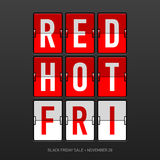 Vente d'un rouge ardent de Black Friday Images stock