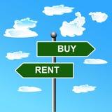 Vente de achat, signe de rue à double sens, illustration de vecteur illustration libre de droits