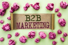 Vente de B2B des textes d'écriture de Word Concept d'affaires pour le commerce d'entreprise à entreprise de transactions commerci Image stock