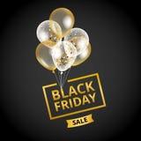 Vente de Black Friday de ballons illustration libre de droits