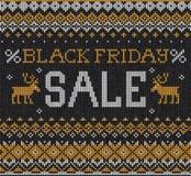 Vente de Black Friday : Ou russe embroid tricoté par style scandinave Image stock