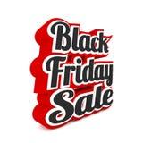 Vente de Black Friday sur le blanc Illustration de Vecteur