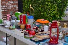 Vente de bric-à-brac de brocante à domicile Image libre de droits