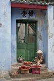 Vente de Chilis Hoi An, le Vietnam Photos libres de droits