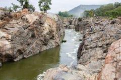 Vente de coracle sur la rivière Photos libres de droits