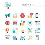 Vente de Digital, affaires en ligne, public cible, salaire par cli illustration stock