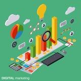 Vente de Digital, concept de vecteur de gestion Images stock