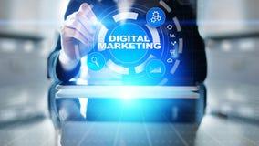Vente de Digital, publicité en ligne, SEO, SEM, SMM Affaires et concept d'Internet photo stock
