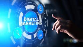 Vente de Digital, publicité en ligne, SEO, SEM, SMM Affaires et concept d'Internet photographie stock