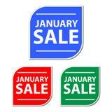 Vente de janvier Photo libre de droits