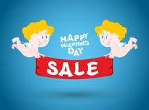 Vente de jour de valentines Symbole de ventes de vacances Images libres de droits