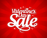 Vente de jour du ` s de Valentine. Images libres de droits
