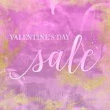 Vente de jour du ` s de Valentine Texture de fond de vintage Style de Bohème Artsy Image libre de droits