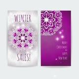 Vente de l'hiver Calibre d'illustration d'impression de vecteur de conception de Noël Images stock