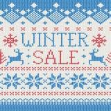 Vente de l'hiver : Configuration tricotée scandinave illustration stock