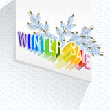 vente de l'hiver 3d Photos libres de droits