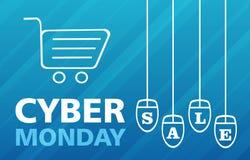 Vente de lundi de Cyber Image stock