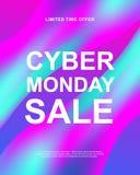 Vente de lundi de Cyber Bannière promotionnelle à la mode de Web de vecteur illustration de vecteur