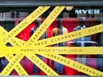 Vente de magasin d'habillement et dégagement, Sydney, Australie photo stock