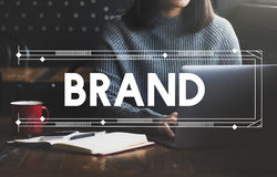 Vente de marquage à chaud de marque concept de produit de publicité commerciale Photos libres de droits