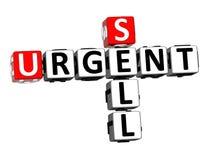 vente de mots croisé du rendu 3D Word urgent au-dessus du fond blanc illustration stock