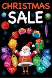 Vente de Noël Image libre de droits