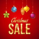 Vente de Noël Photographie stock libre de droits