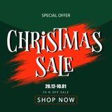 Vente de Noël de bannière Bon de remise Liquidation image libre de droits