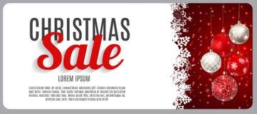 Vente de Noël, fond de bannière de bon de remise Carte de remise d'affaires Illustration de vecteur Image libre de droits