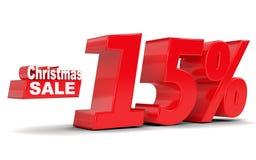 Vente de Noël Remise 15 pour cent  Photo stock