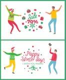 Vente de Noël soixante-dix pour cent de baisse des prix illustration stock
