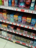 Vente de préservatifs photographie stock