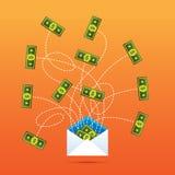 Vente de publicité par courrier individuel produisant de l'argent comptant Photos libres de droits