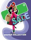 Vente de ramassage de vêtement de l'hiver Image stock